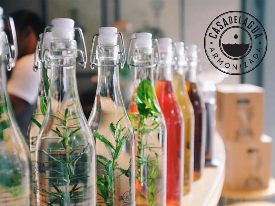 casa del agua botellas infusionadas